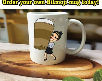 Bitmoji Mug, Custom Bitmoji Mug, Bitmoji Gifts, Gifts for Her, Gifts for Friend, Gift for Him