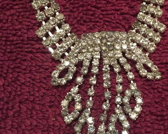 Vintage Costume Rhinestone Necklace