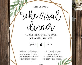 geometric rehearsal dinner invitation | geometric wedding | modern rehearsal dinner | rehearsal dinner invitation | rehearsal dinner wedding