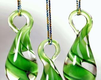 Handmade glass tree hangers, Christmas decorations