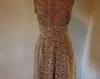 Vintage 90s 'Kathie Lee Collection' Leopard Romper with Back Cutout