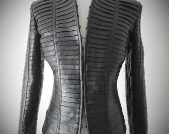 Segments - Women's leather jacket -  (Free shipping)