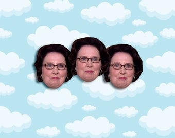 "Phyllis Vance Expressions Sticker Pack 3 ct 2 x 1.5"" - The Office Tv - Office Phyllis - Office Tv Show - The Office Tv Gift - Phyllis Vance"