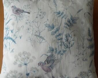Pretty Bird and Flower Cushion Cover
