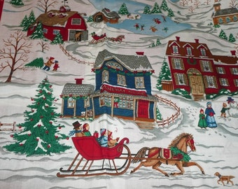 VIP Home For The Holidays Winter Scene Fabric Panel