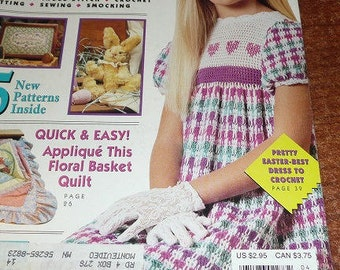 Vintage McCall's Needlework And Crafts Magazine April 1992
