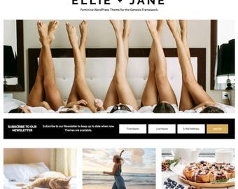 Ellie Jane WordPress Theme, WordPress Theme, Gold, Blog Design, Responsive WordPress Theme, WordPress Blog Design, WordPress Template