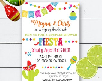 Fiesta Invitation, Fiesta Birthday Invitation, Fiesta Bachelorette, Mexican Fiesta Invitation, Fiesta Wedding Shower, Fiesta Bridal Shower