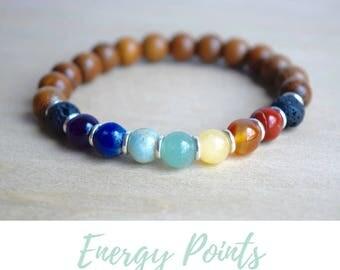 Protective Bracelet / calming bracelets, 7 chakras yoga, everyday bracelets, meditation bracelets, 7 chakra bracelet, grounding jewelry