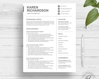 modern resume template for word clean resume design two page resume download simple