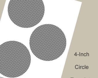 4-Inch Circle Template, Digital Download