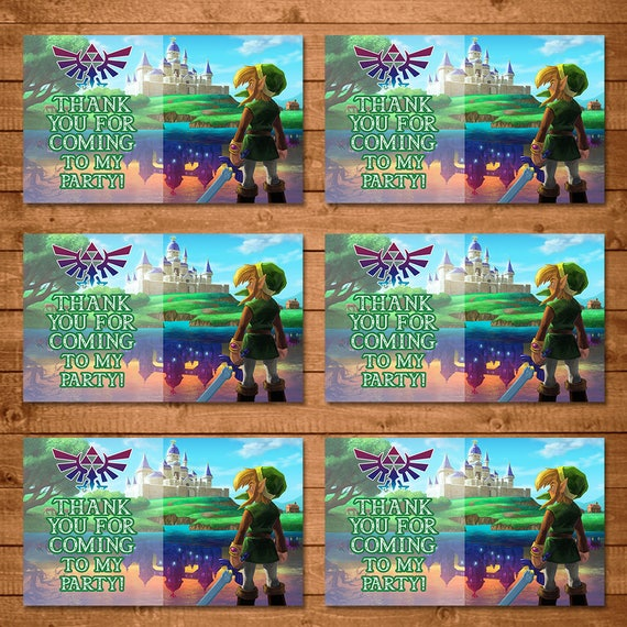 Legend of Zelda Party Tags Link - Zelda Party Tags - Link Party Tags - Video Game Party Favors - Zelda Birthday Party - Link Favor Tags