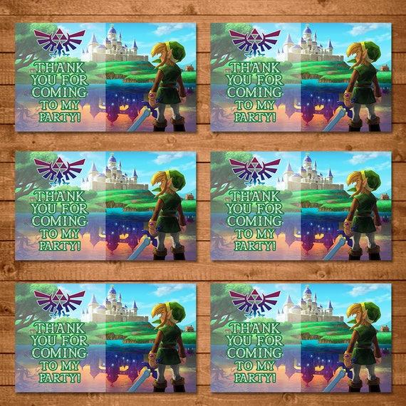 Legend of Zelda Party Tags Link - Zelda Party Tags - Link Party Tags - Video Game Party Favors - Zelda Birthday Party - Link Favor Tags