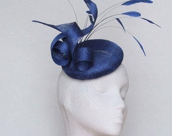 Royal Blue Fascinator Headpiece.