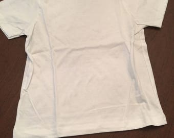 White Organic Cotton Baby Toddler Clothes Plain T-shirt Size 6