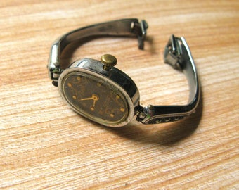 Wrist Watch Luch For Parts Or For Repairs, Watch For Restoration, Mixed Media Steampunk, Lot Of Finds, Antique Watches