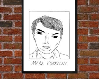 Badly Drawn Mark Corrigan - Peep Show Poster - *** BUY 4, GET A 5th FREE***