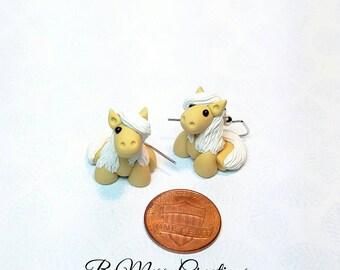 Miniature Horse Earrings, Palomino - Small