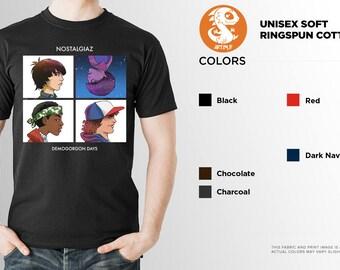Stranger Things Parody Shirt | PREMIUM QUALITY | Nostalgiaz | Demogorgon Days | Sci Fi | Fantasy Tee | Geek Clothing | T-Shirt | Geek Tee