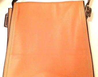 Coach Hand bag Vintage  Monterey FlapTop Grain Camel Leather # 6147- EUC Crossbody Handbag Genuine Leather