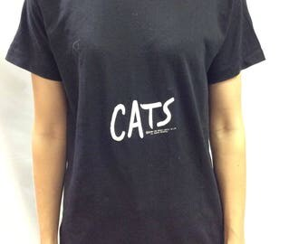 1981 Cats The Musical Original 50/50 T Shirt Black