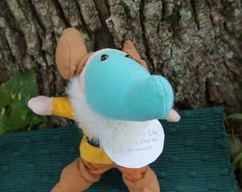 Barlow.  FrankenFuzzie, Soft Sculpture, Stuffed Animal, Toy