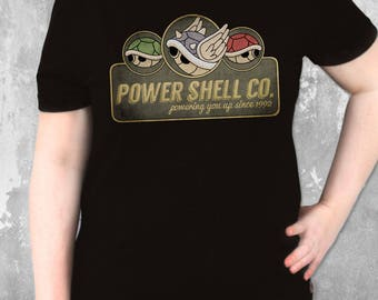 Power Shell Co. Powering you up since 1992! Mario Kart inspired Design | Video Game Tee