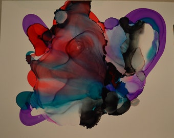 Deep Inside: Abstract Alcohol Ink Art