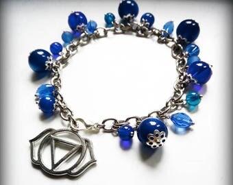 5 Chakra bracelet-blue