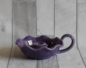 A Wardle Art Pottery Purple Chamberstick