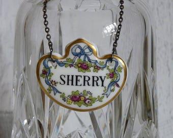 Vintage Coalport Bone China Sherry Decanter Label