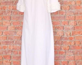 Genuine Vintage Wedding Dress Gown Retro 60s Victorian Edwardian Style UK 12...US 8