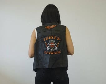 Vintage Harley Davidson Vest
