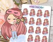 Cute Dolls- Night Time Routine/Brush Teeth Stickers -063