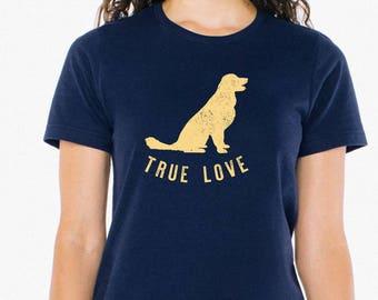 Golden Retriever shirt - Navy Dog Lovers Tee - Golden Puppy Love Tee - Dog Mom Gifts | Dog Tee Shirt Dog Tshirt