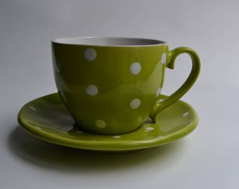 POLKA DOT Teacup & Saucer Soy Candle