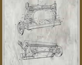 Wheeler Sewing Machine Patent# 328164 dated October 13, 1885.