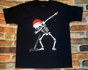 Dabbing Santa Hockey Player
