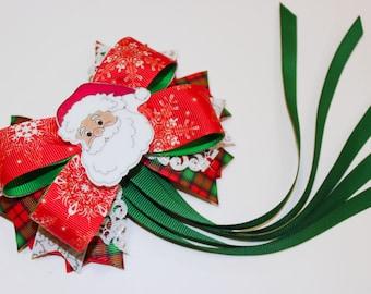 Christmas Hair Bow Christmas Bow Santa Claus Hair Bows Santa Claus Hair Bow Hair Bows Xmas Hair Bow Xmas Bow Christmas Hair Bow Christmas