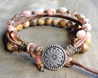Bohemian bracelet boho chic bracelet rustic bracelet gemstone womens jewelry boho bracelet hippie jewelry boho chic jewelry bohemian jewelry