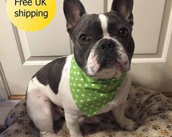 Dog Bandana, collar bandana, bandana dog collar, dog neckerchief