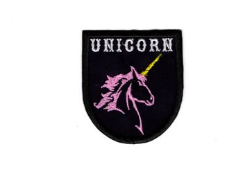 Unicorn patch iron/sew on patch Badge