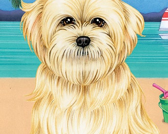 Lhasa Apso Beach Towel  48040