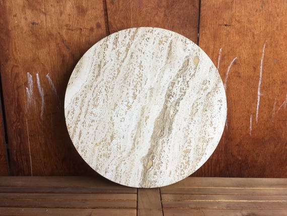 Pair Of Round Marble Table Tops   White Marble Slab   Round Table Top    Circular Marble Side Table   Vintage White Stone Round Table