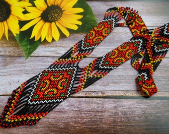Ukrainian Gerdan Ukrainian jewelry Ukrainian ethnic necklace Long necklace Ukrainian embroidery Traditional Ukrainian Necklace Folk necklace