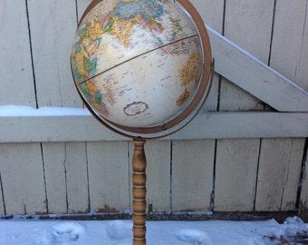Vintage Mid-Century Replogle 12-inch Freestanding Globe