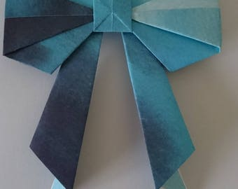 4 Watercolour paper Origami bows for decorating cards/gifts/frames