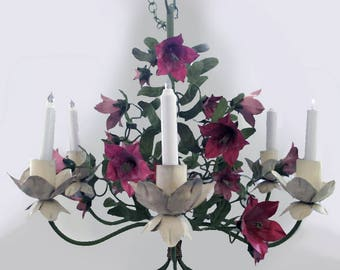 Vintage Tole Chandelier (candle)