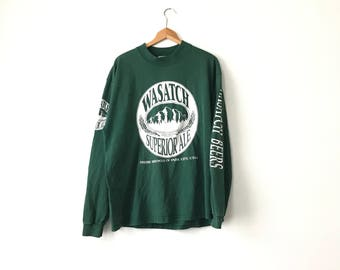 WASATCH BREWERY SHIRT // 90s // X-Large  // Beer Shirt // Beer T-Shirt // Beer Shirt // Wasatch // Wasatch Shirt // Wasatch Beer // 90s