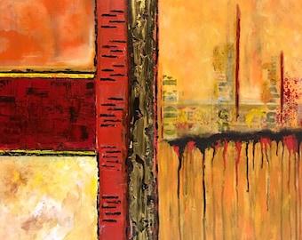 "Original Acrylic Painting ""Between Boundaries"""